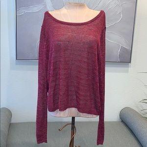 rag & bone Sweater Long Sleeve in Pink Size L